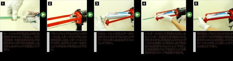 GLA450(エアーガン)の場合の使用方法 イメージ