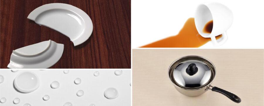 特長2.耐久性に優れたメラミン化粧板を表面に使用 イメージ